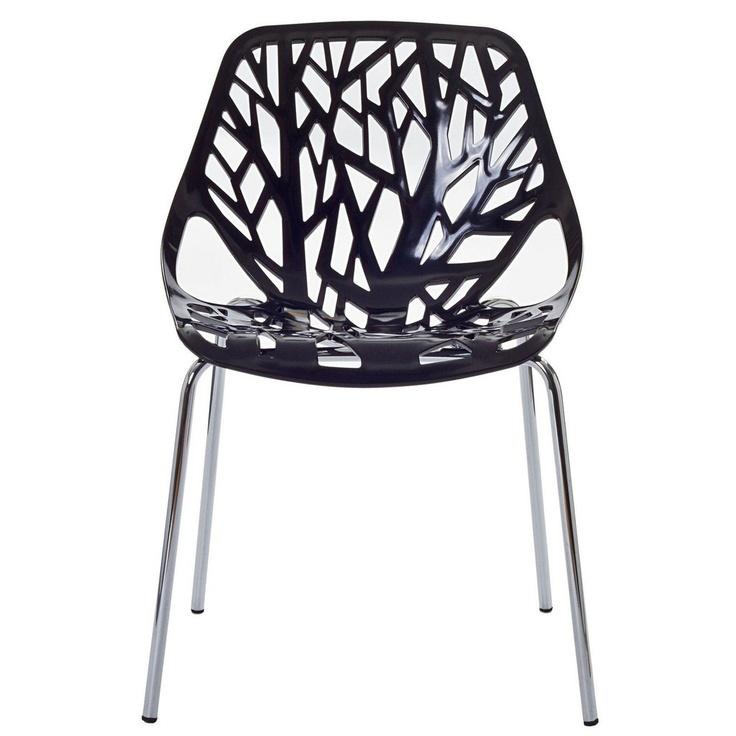 Ażurowe krzesło na metalowych nóżkach (źródło: pinterest.com)