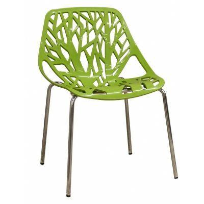 Ażurowe krzesło w kolorze soczystej zieleni (źródło: pinterest.com)