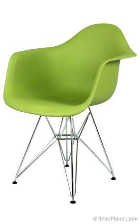 Krzesło o futurystycznym kształcie i wyrazistym kolorze (źródło: pinterest.com)