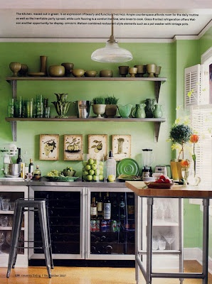 Zieleń w kuchni (źródło: pinterest)