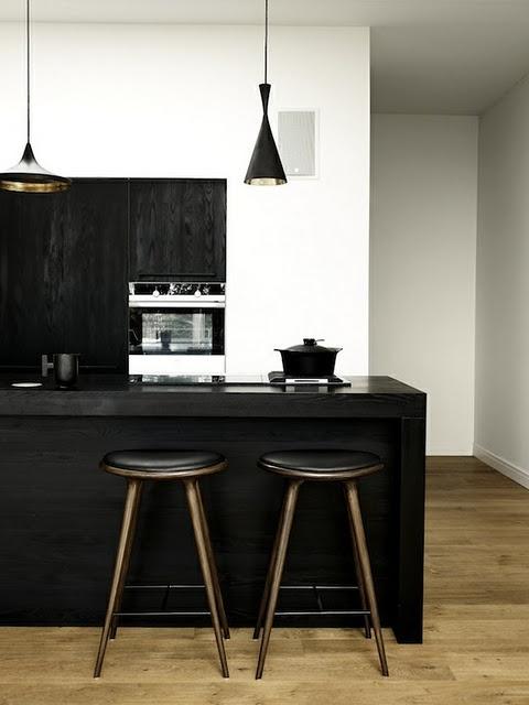 Czerń w kuchni (źródło: pinterest)