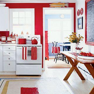 Czerwień w kuchni (źródło: pinterest)