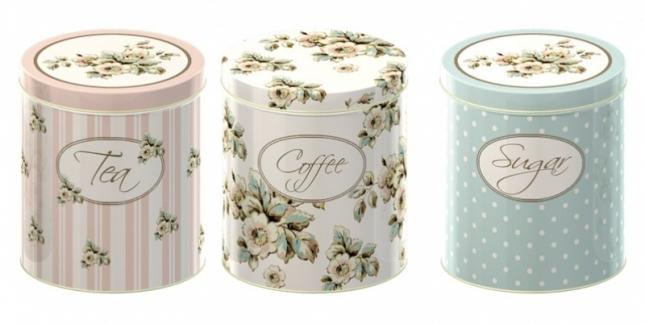Komplet puszek na kawę, herbatę i cukier (źródło: www.mybaze.com)