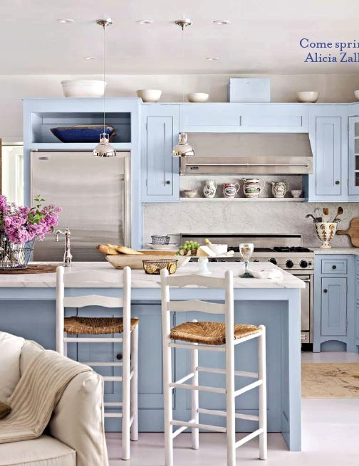 Błękitna kuchnia (źródło: pinterest)