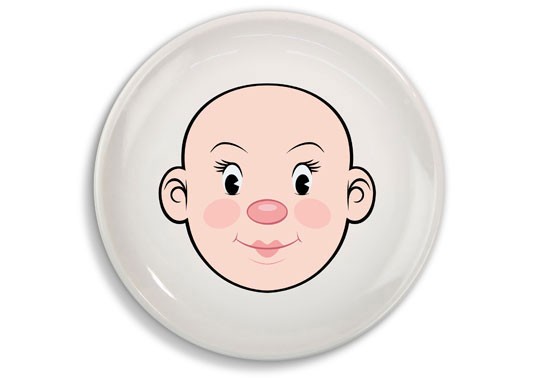 Talerz Food Face - twarz dziewczynki (źródło: radosnakuchnia.pl)