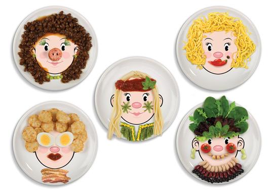 Talerzyki Food Face (źródło: www.radosnakuchnia.pl)