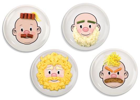 Talerzyki Food Face (źródło: radosnakuchnia.pl)