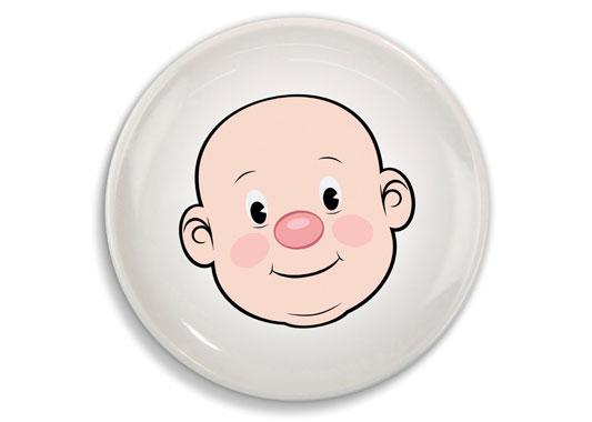 Talerz Food Face - twarz chłopca (źródło: radosnakuchnia.pl)