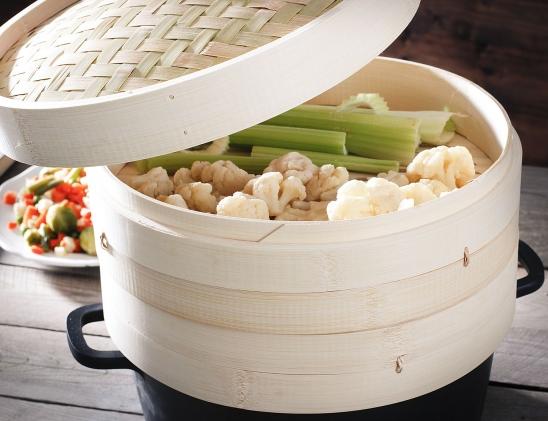 parownik z bambusa do gotowania na parze