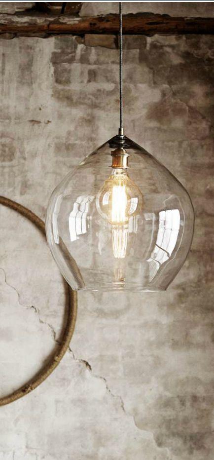 nowoczesna lampa szklana