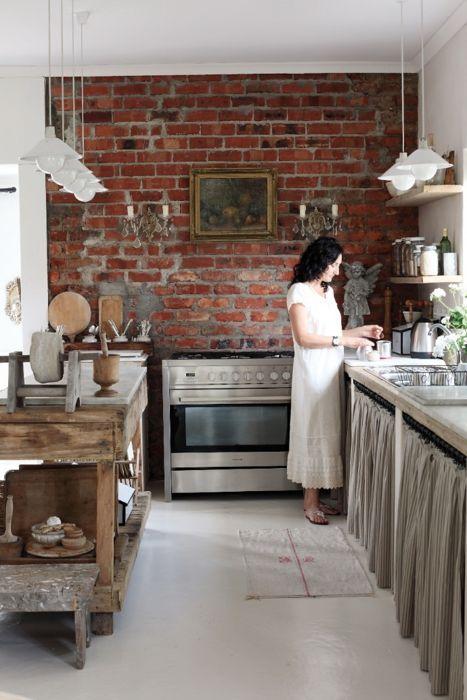 cegła w kuchni